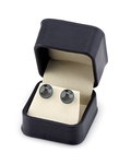 11mm Tahitian South Sea Pearl Stud Earrings- Various Colors - Fourth Image
