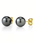 11mm Tahitian South Sea Pearl Stud Earrings- Various Colors - Third Image